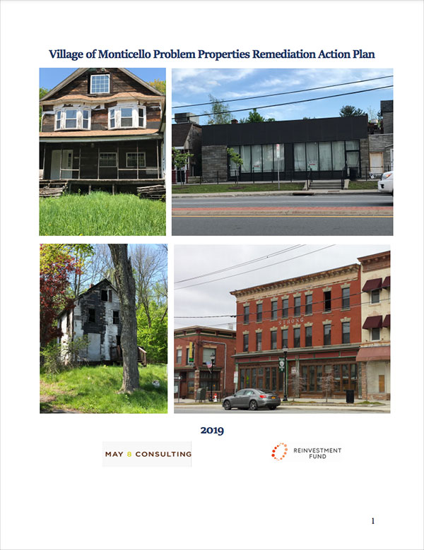 Village of Monticello Problem Properties Remediation Action Plan Cover