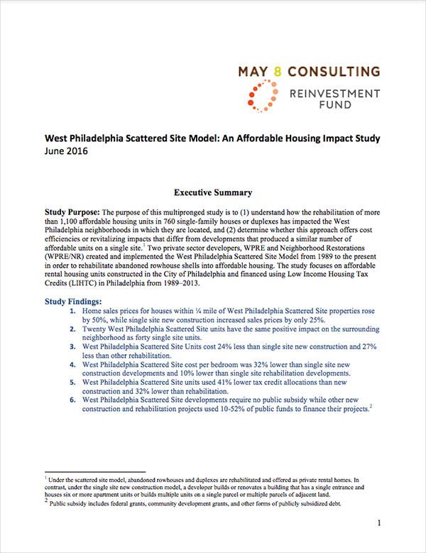 West Philadelphia Scattered Site Model